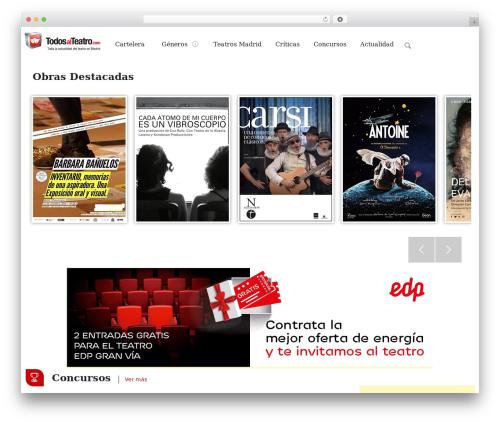 Seatera WordPress theme - todosalteatro.com