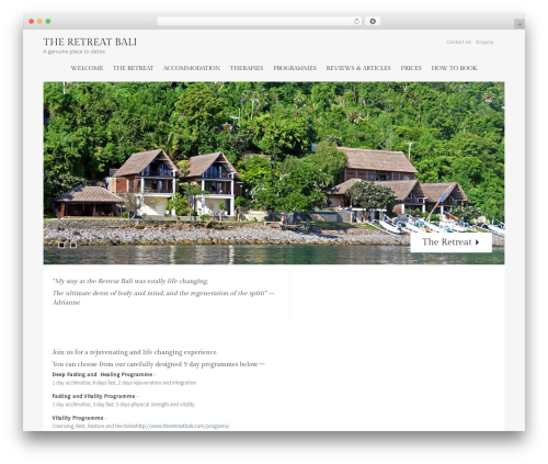 Stay WordPress travel theme - theretreatbali.com
