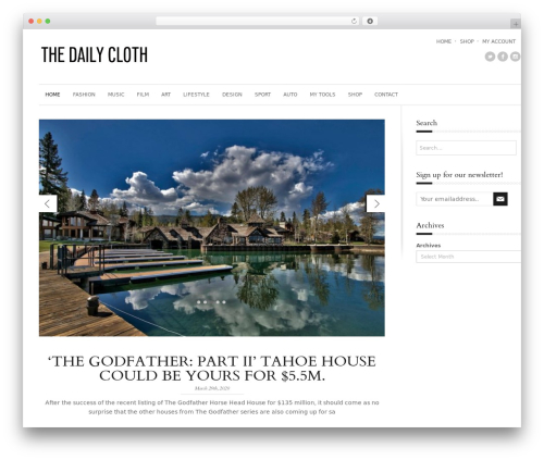 StyleMag WordPress theme - thedailycloth.com