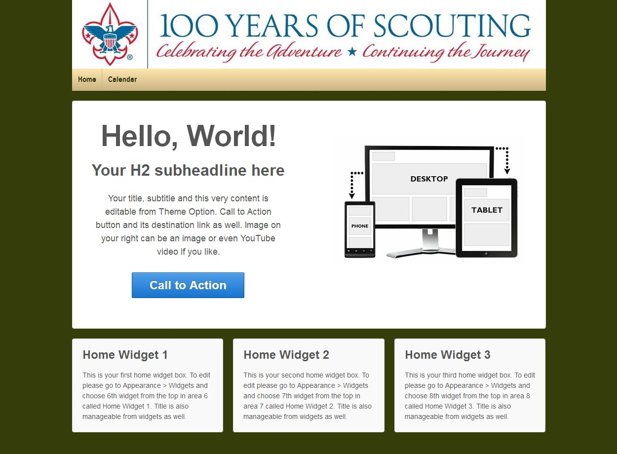 Template WordPress Responsive Troop 545