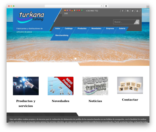 Uniq best free WordPress theme - turkanafishing.es