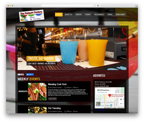 WordPress template Clubber - thedaiquirifactory.com