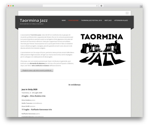 WordPress template Corpo - taorminajazz.it