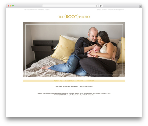 WordPress theme ProPhoto - therootphoto.ca