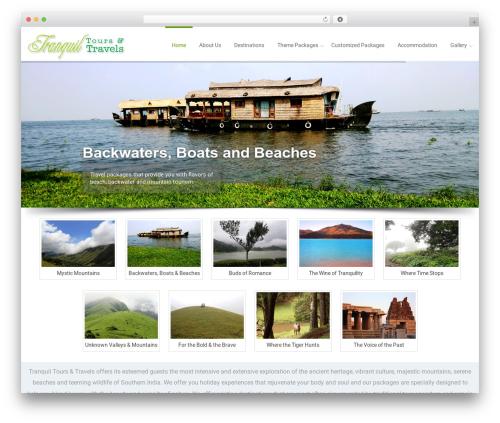 WordPress theme Reznor - tranquiltoursandtravel.com
