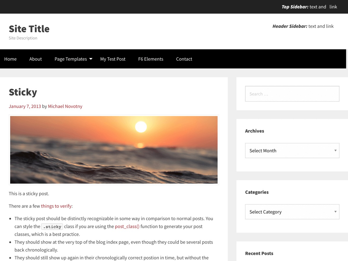WordPress theme TotalPress