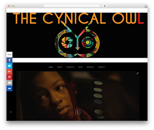 WordPress website template Amelie - thecynicalowl.com
