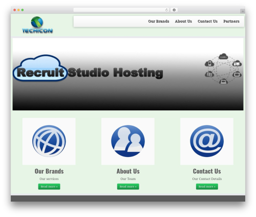 WordPress website template Chris Randall - techicon.co.uk