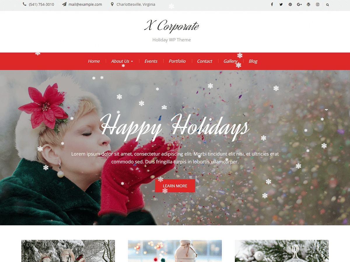 X Corporate business WordPress theme