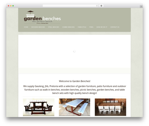 Acoustic landscaping WordPress theme - gardenbenches.co.za