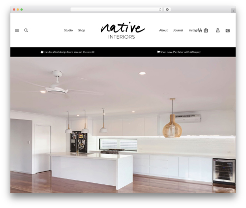 Atelier theme WordPress - nativeinteriors.com