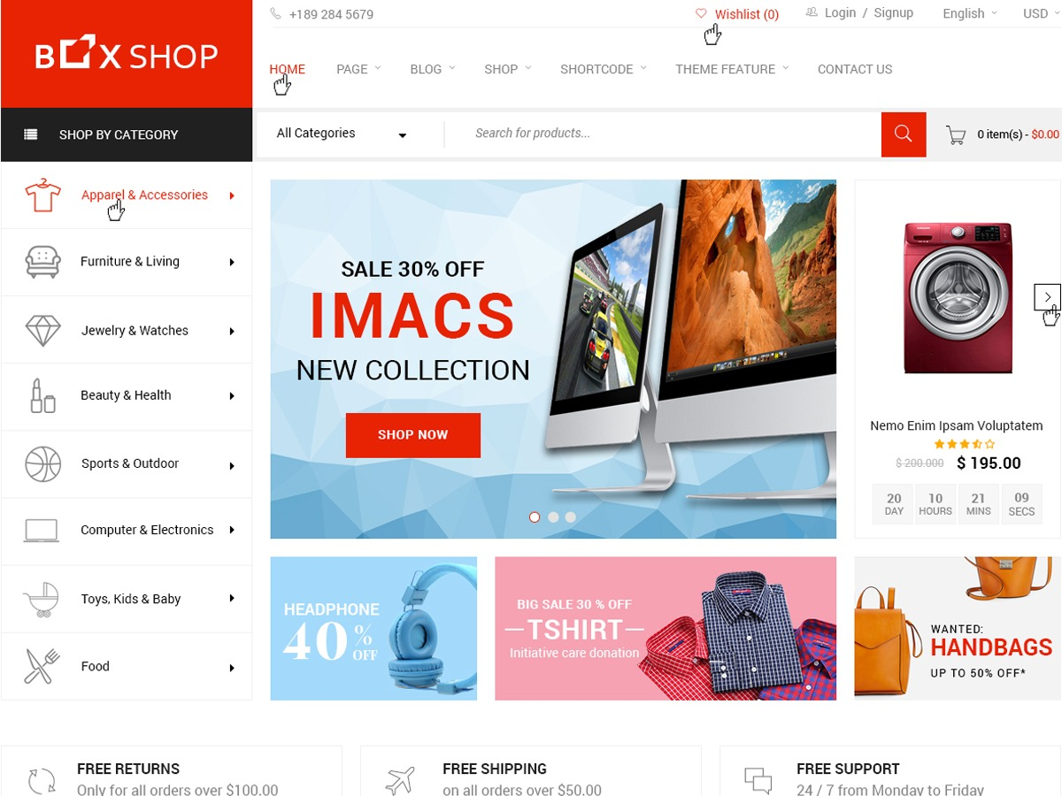 BoxShop Child WordPress ecommerce theme
