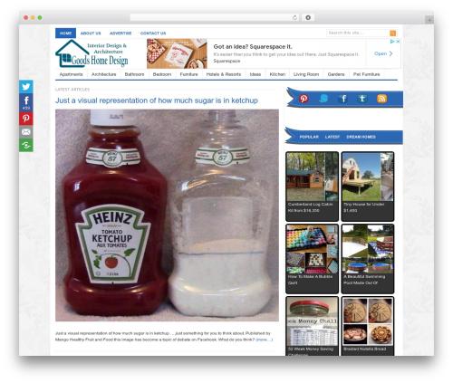 Freshlife WordPress blog template - goodshomedesign.com