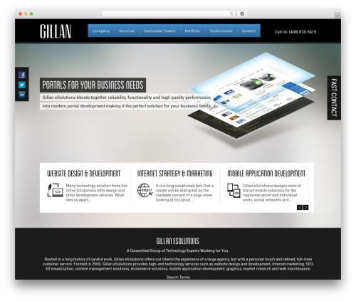 Gillan company WordPress theme - gillanesolutions.com