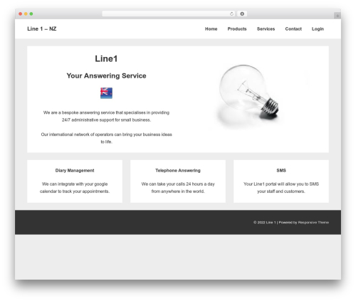 Responsive free website theme - nz.line1.co