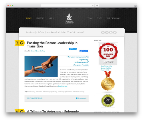 Theme WordPress Writer Child - generalleadership.com