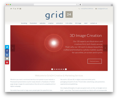 Total free WP theme - grid24.co.uk/?page=affordable-animation