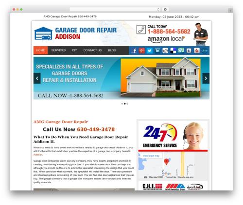 Twenty Thirteen WordPress template for business - garagedoorsrepairaddisonil.com