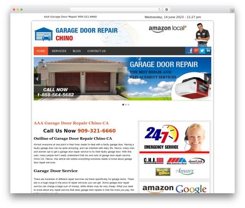 Twenty Thirteen WordPress theme design - garagedoorrepairchinocal.com