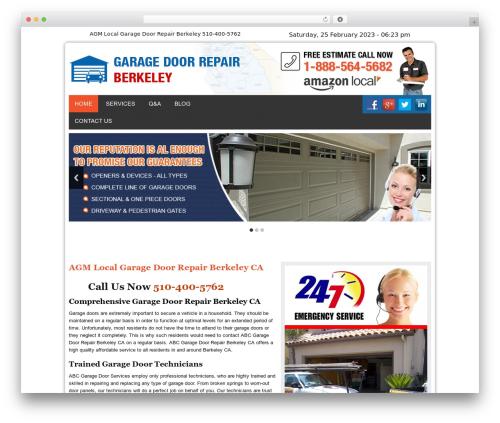 WP theme Twenty Thirteen - garagedoorrepairberkeleycal.com