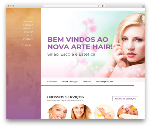 BeautySpot WordPress theme - novaartehair.com.br