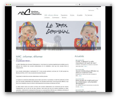 Creation WordPress theme - notremanifeste.com