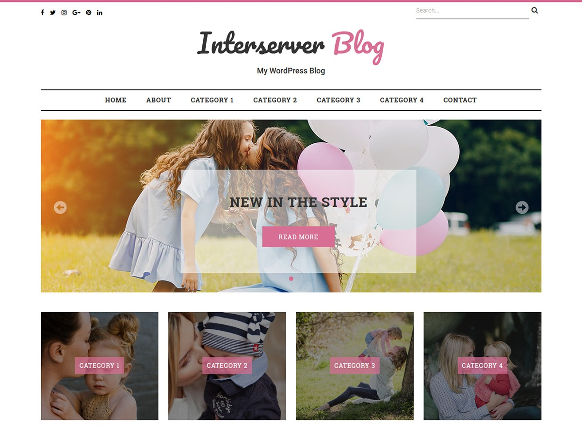 Interserver Blog WordPress blog theme