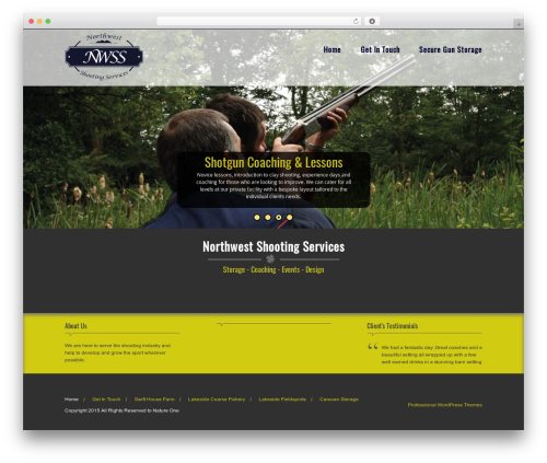 Nature One Pro template WordPress - nwss.co.uk