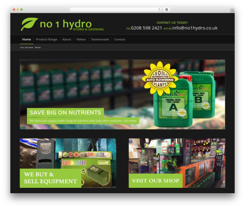 Plus WP template - no1hydro.co.uk