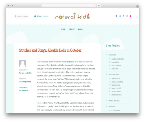 Template WordPress Storefront - naturalkidsteam.com
