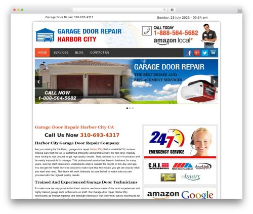 Twenty Thirteen premium WordPress theme - garagedoorrepairharborcitycal.com