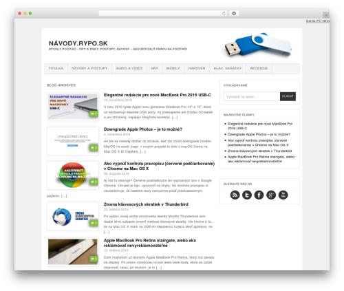 WordPress template Project AR2 - navody.rypo.sk
