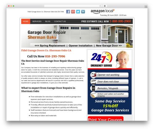 WP template Twenty Thirteen - garagedoorrepairshermanoakscal.com