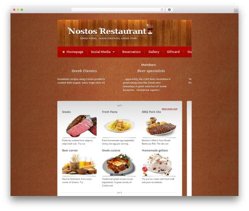 Bordeaux Premium Theme best restaurant WordPress theme - nostos-restaurant.com