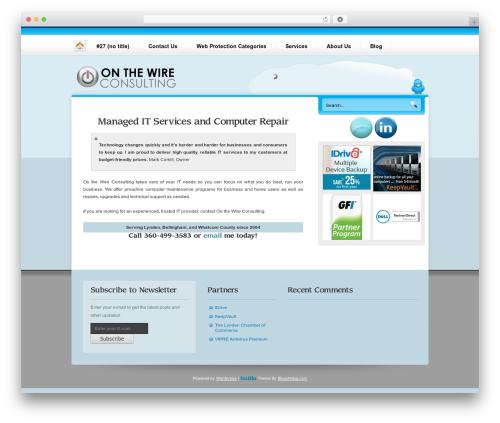 Nublu best WordPress theme - onthewireconsulting.com