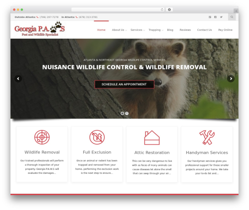 Reznor WordPress theme - georgia-paws.com