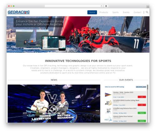 Smart7 WordPress theme - georacing.com