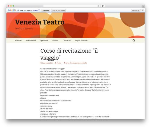 Twenty Thirteen WordPress template free - veneziateatro.com