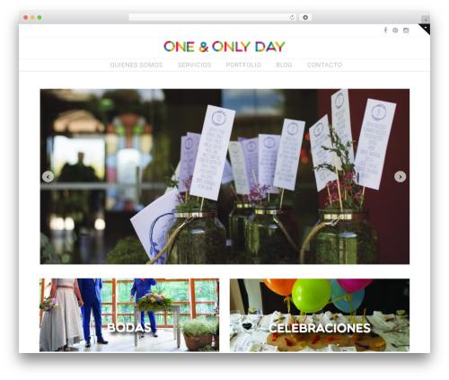 Wedding Suite WordPress theme - oneandonlyday.com