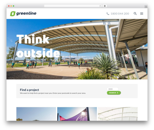 WordPress website template Greenline - greenline.com.au