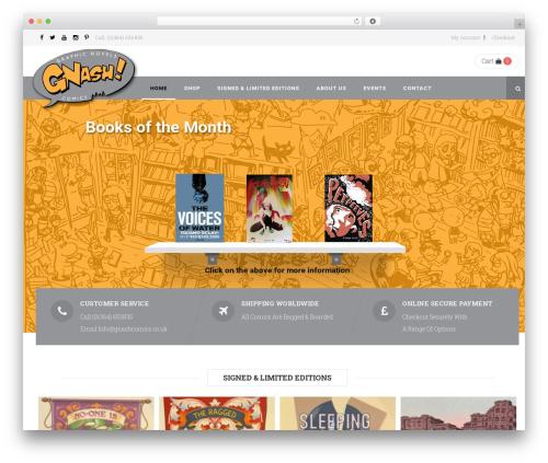 Bookstore theme WordPress - gnashcomics.co.uk