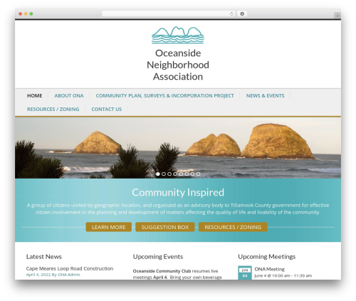 Caroline best WordPress theme - oceansidefriends.org