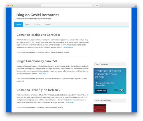 WordPress theme Iconic One - gesielbernardes.eti.br
