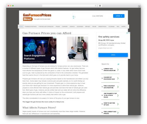 Fresh And Clean best WordPress template - gasfurnacepricesdirect.com