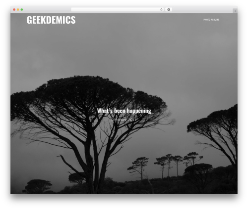 Genesis WordPress website template - geekdemics.com