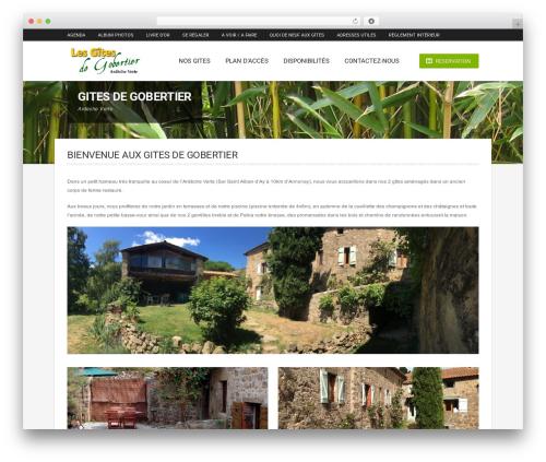 Hotec WordPress page template - gite-gobertier.com