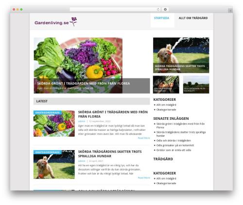 Point WordPress website template - gardenliving.se