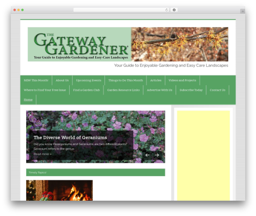 Smartline WordPress page template - gatewaygardener.com