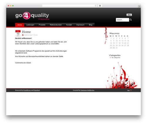 Template WordPress Stardust - go4quality.de