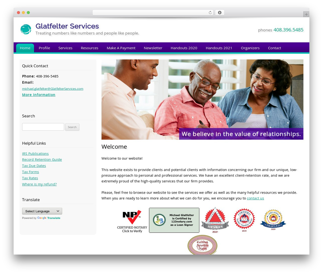 Theme WordPress Customized - glatfelterservices.com